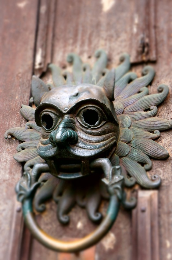 Scary door knocker